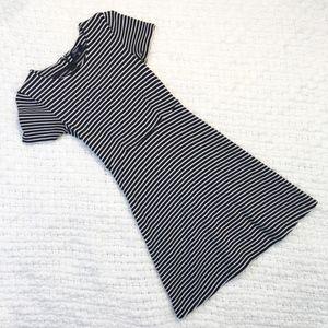 Madewell Gallerist B&W Striped Dress Size Small